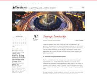 adibudiarso.wordpress.com screenshot