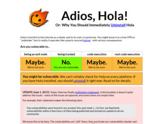 adios-hola.org screenshot