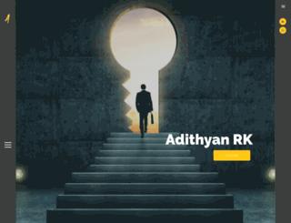 adithyan.in screenshot