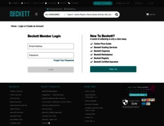 admin.beckett.com screenshot