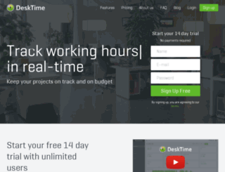 admin.desktime.com screenshot