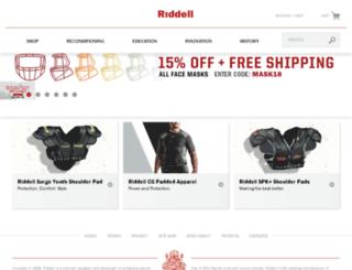 admin.riddell.com screenshot