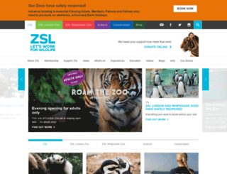 admin.zsl.org screenshot