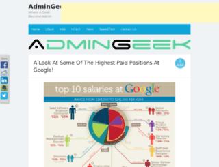 admingeek.net screenshot
