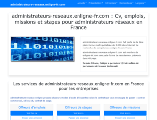 administrateurs-reseaux.enligne-fr.com screenshot
