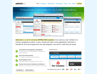 adminizio.com screenshot