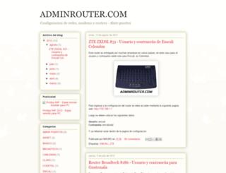 adminrouter.com screenshot