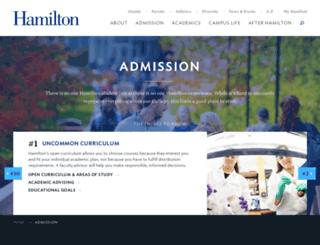 admission.hamilton.edu screenshot