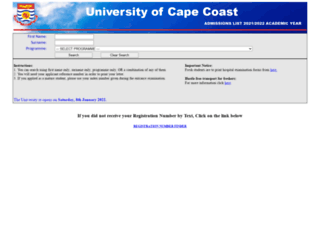 admissionlist.ucc.edu.gh screenshot