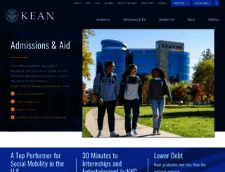 admissions.kean.edu screenshot