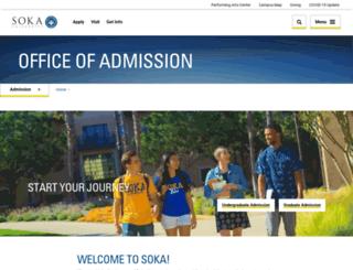 admissions.soka.edu screenshot