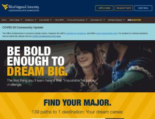 admissions.wvu.edu screenshot