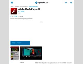 adobe-flash-player-11.uptodown.com screenshot