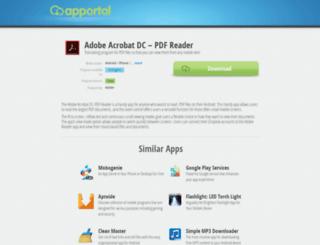 adobe-reader.apportal.co screenshot