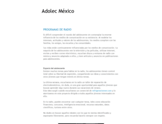 adolec.org.mx screenshot