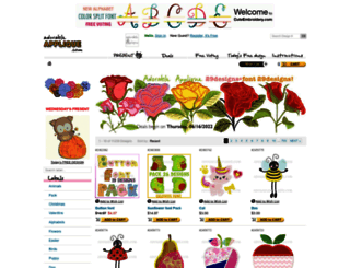 adorableapplique.com screenshot