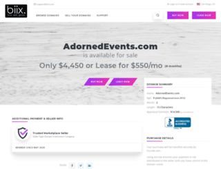 adornedevents.com screenshot