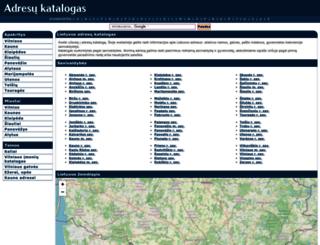 adresai.vilnius21.lt screenshot