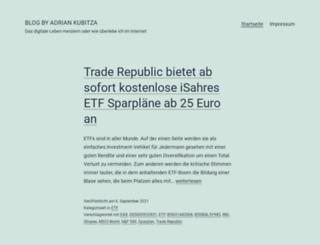 adriankubitza.com screenshot