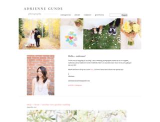 adriennegundeblog.com screenshot