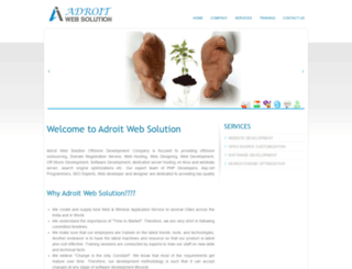 adroitwebsolution.com screenshot