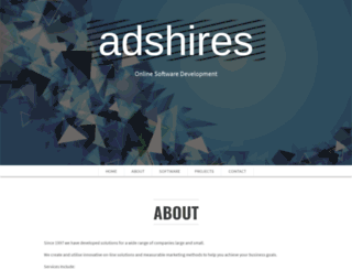 adshires.co.uk screenshot