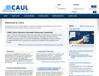 adt.caul.edu.au screenshot