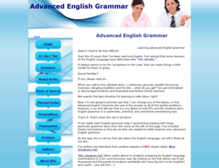 advanced-english-grammar.com screenshot