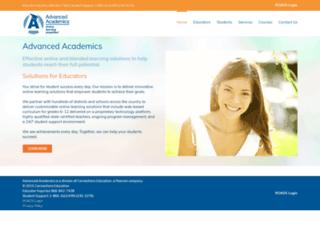 advancedacademics.com screenshot