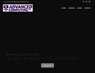 advancedcomputing.ca screenshot