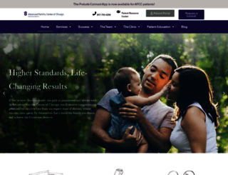 advancedfertility.com screenshot