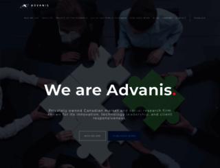advanis.ca screenshot