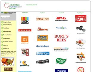 advantagenutrition.com screenshot