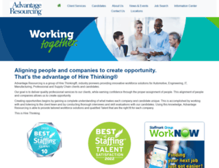 advantageresourcing.com screenshot