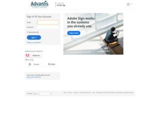 advantiscu.echosign.com screenshot
