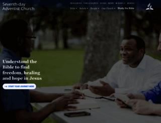 adventist.org screenshot