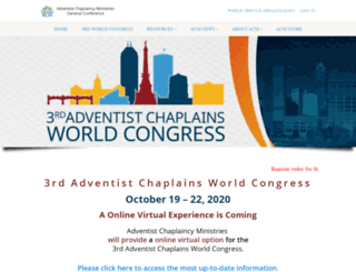 adventistchaplains.org screenshot