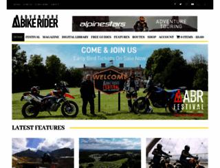 adventurebikerider.com screenshot