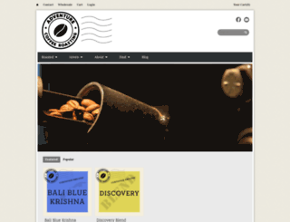 adventurecoffeeroasting.com screenshot