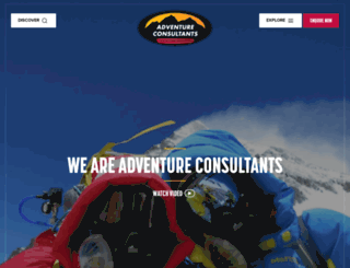 adventureconsultants.com screenshot