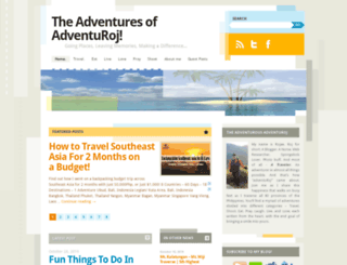 adventuroj.com screenshot