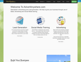 advertanywhere.com screenshot