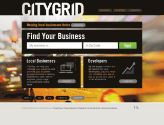 advertise.citygrid.com screenshot