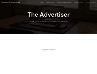 advertiser.azurewebsites.net screenshot