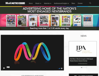 advertising.metro.co.uk screenshot