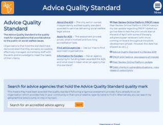 advicequalitystandard.org.uk screenshot