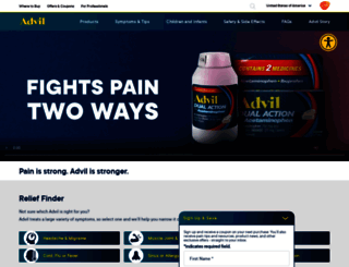 advil.com screenshot