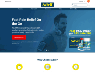 advil.net.au screenshot