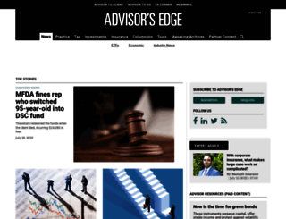advisor.ca screenshot