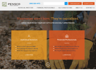 advisor.pensco.com screenshot
